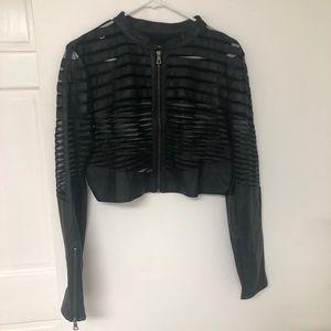 Jackets & Blazers - Leather short jacket